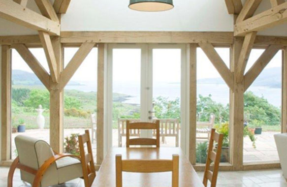 oak frame house builds west highlands scotland